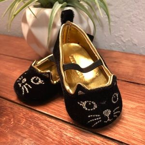 Black Cat Dress Shoes for Baby 0-3 Month